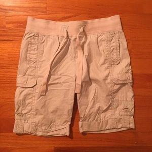 old navy light gray cargo shorts
